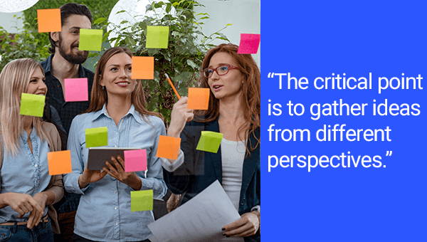 "Risk Identification Quote: ""The critical point is to gather ideas from different perspectives."""