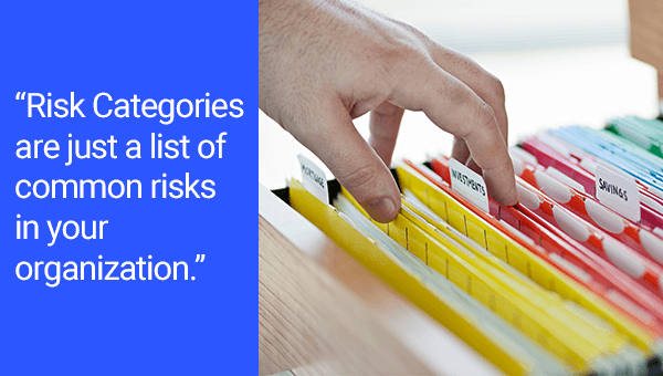 "Project Risk Identification Quote: ""Risk Categories are just a list of common risks in your organization."""