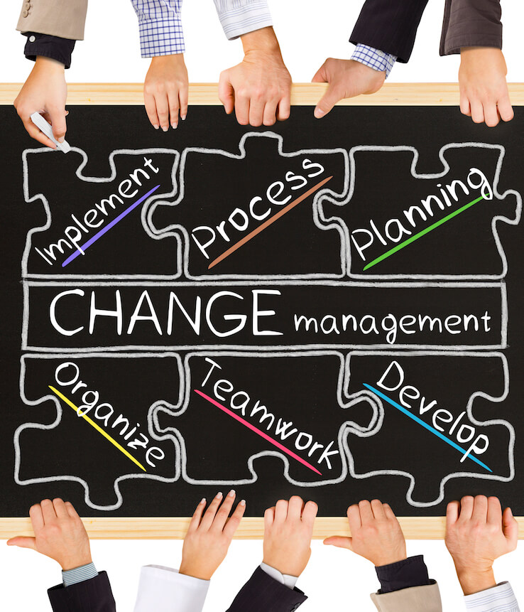 Change management is like a puzzle.