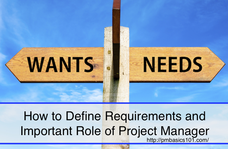 How to Define Requirements and Important Role of Project Manager