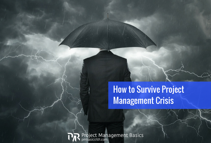 A man stands to face upcoming storm of the project management crisis