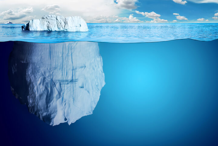 Stakeholders requirements and expectations are like the surface of an iceberg