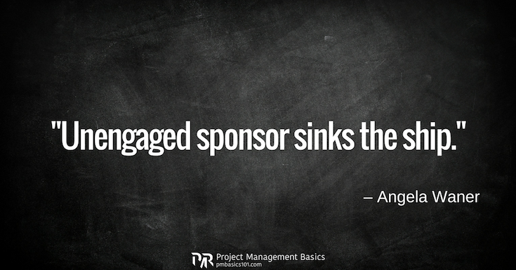 Unengaged sponsor sinks the ship