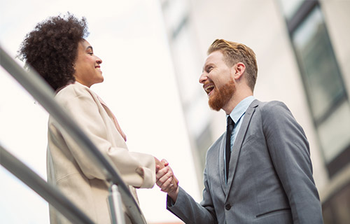 Handshake is the first rule of leadership without authority