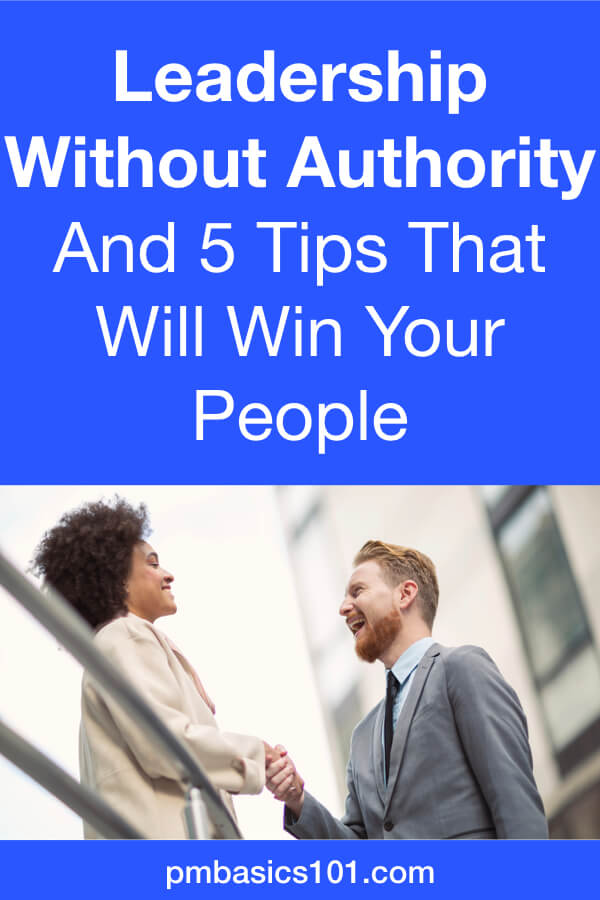 Leadership without authority is possible. Moreover, as a junior project manager you will face it all the time. You will need to lead senior-level team members. You won't have any authority over them. Only the weak authority of your title. Learn how to lead people without using your title or authority. Read the article and save the Pin.