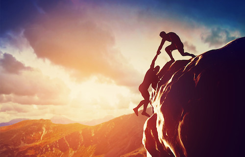 Leadership in Project management is like climbing a mountain
