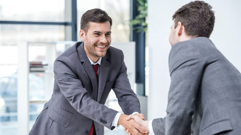 Use a hand shake with your project team