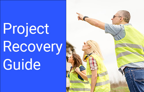A team works on project recovery