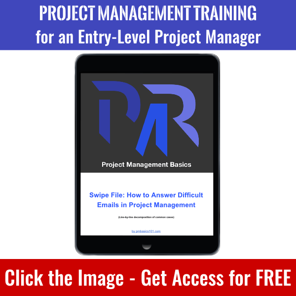 Click the image to get access to How to Answer Difficult Emails in Project Management and whole PM Basics Library.